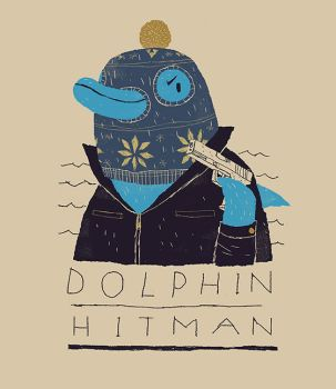 dolphin hitman by louisroskosch