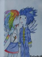 Rainbow Dash and Soarin - Child version by PinkShooter-chan