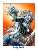 Lady Death in Color by kevinesque