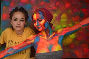 bodypainting - sunrise / model + artist by mihepu