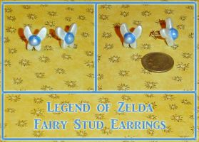 Zelda Navi Fairy Stud Earrings by YellerCrakka
