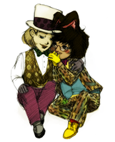 Hatter and Hare - bffs+ by Mrs-Crocker
