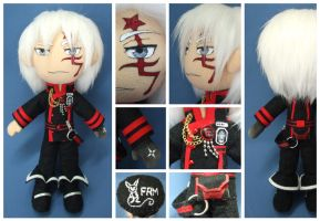 Allen Walker - D.Gray-Man - Commission Plush by FlyingRabbitMonkey