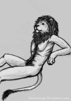 Day_21 Chilling Lion by Schneeauge