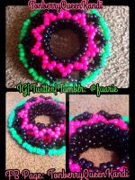 Custom Pink, Black, And Green Cuff. by MalakxFuarie