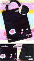Cat With Love Tote Bag by shiricki