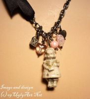 Pink Babydoll Necklace by uglyshyla