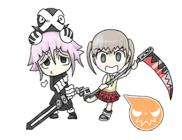 Maka and Crona by Scarefoo