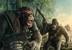 Guerilla Chimps by Odobenus