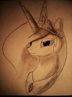Princess Celestia by SpaceHunt