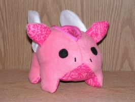Flying Pig Zipper Pouch by pinktoque