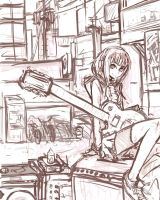 TMA-1 AiAiAi, Chuck Taylors, Les Paul by pantsu-pirate