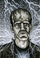 Frankenstein sketch card by silentsketcher