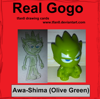 Awa-Shima - Olive Green (Tfan0 Drawing Card #14) by tfan0