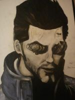 Adam Jensen - Dues Ex HR by The8bitpixel