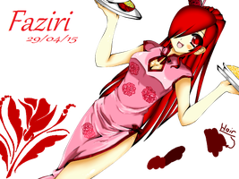 faziri's chinese waitress outfit by regluarshow220