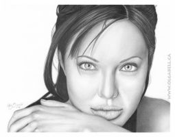 My ART DRAWING:Angelina Jolie by OlgaBell
