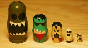 Monster babushka set. by heartinacan