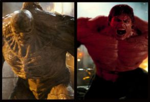 Red Hulk vs the Abomination by xXNightblade08Xx