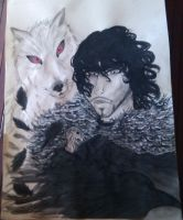 Jon Snow and Ghost by StKaley