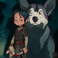 Arya Stark + Princess Mononoke MASHUP! by vg-heart