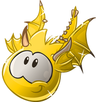 Puffle Dragon Dorado (Hecho por Calibri Cp) by clubpenguin1