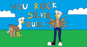 MLP: You Rock, Silver Quill! by RainbowxxxDash