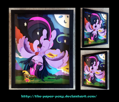 2015 Babscon Exclusive Twilight Shadowbox by The-Paper-Pony