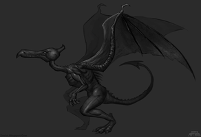 Super Metroid HD Ridley Concept by Zesiul