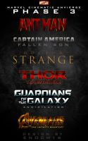 Phase 3 Marvel Cinematic Universe LOGOS by Enoch16