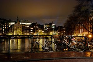 At Night In Amsterdam by soopermodel