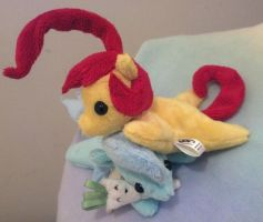 Cherry Churro Pocket Pony Plush by NerdyMind