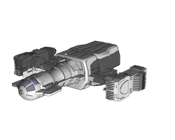 a spaceship I'm building to use in a project! by alexvontolmacsy