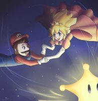 Super Mario galaxy by NarutoxHinatafan
