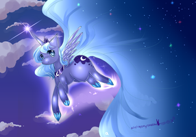 Luna Wallpaper MLP by AquaGalaxy