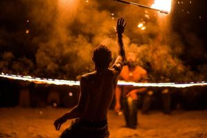 Vanuatu Fire Dance by little-spacey