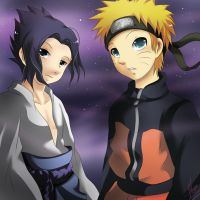 AT:Sasuke and Naruto by xXUnicornXx