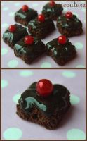 Chocolate brownie beads by citruscouture