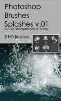 Shades Splashes v.01 HD Photoshop Brushes by shadedancer619