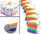 Rainbow Cake Phone Charms by Bon-AppetEats
