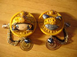 "Pins ""Egyptian girl and cat"" by Bojo-Bijoux"
