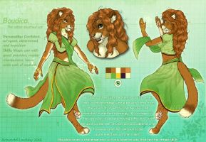Boudica- Reference sheet by LeoNoy