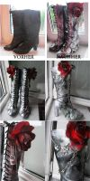 Queen of Hearts Wonderland Shoes by GermanyKai