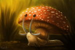 DAY 64. Gastroshroom (35 Minutes) by Cryptid-Creations