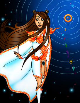 Sailor Solarion Miss Galaxy Pageant Round 1 Entry by JoJiaMystie