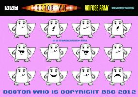 Doctor Who - Adipose Army by mikedaws