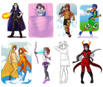 Live Commission Event Batch 1 and 2 by RileyAV