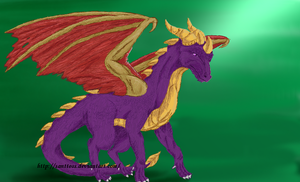Adult Spyro by santtoss