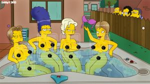 Hot (tub) Simpsons by Sn00pY69