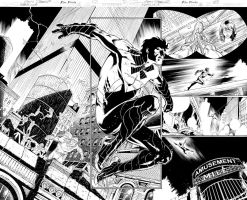NIGHTWING#16 page 02 and 03 by eberferreira